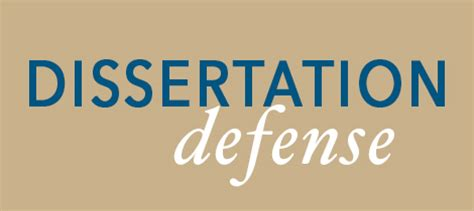 Phd thesis defence slideshow